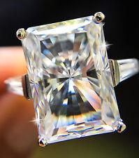 8 ct Brilliant Radiant Ring W/ Bag Vintage Top Russian CZ Moissanite Simulant 5