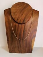 "Elegant 375 9 Carat 9 K Gold Fancy Link Chain Necklace Full Hallmark 19"" 2.08g"