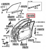 front floor 58165-42021 Toyota Cover rh 5816542021 New Genuine OEM Part