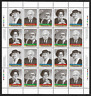 Canada Stamps - Full Pane of 20 - 1997, Prominent Canadians #1661-1664 - MNH