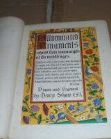 Shaw Medieval Illuminated Manuscripts Color Gold Lithographs Ornaments Bible AO
