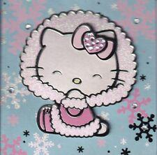 PAPYRUS CHRISTMAS CARD NIP MSRP $6.95 HELLO KITTY(PINK) CARD (H4)