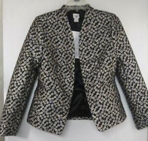 J Crew See My Cami Metallic Floral Jacquard Blazer 6 New Sample