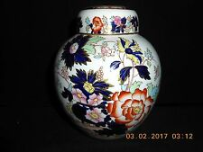 Mason's Mandarin Multicolor Floral Covered Prunus Jar w/Gold Edge & Highlights