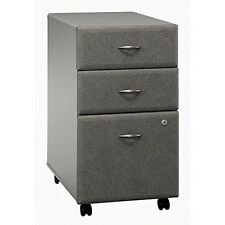 Bush Furniture Series A 3 Drawer Mobile File Cabinet Pewter and White Spectrum