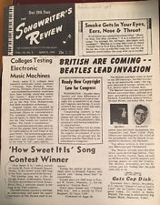 RARE! Hard to Find Early 1964 Beatles! Songwriter's Review- JFK Focus Too!
