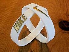 Nike Baller Band Silicone Rubber Bracelet White Gold Dubraes ⚡️