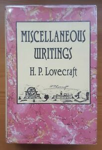 HP Lovecraft - Miscellaneous Writings Arkham House 1st/1st Edition Cthulhu RARE