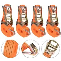 4x Heavy Duty Tie Down Straps 2 in. x 35 ft. 10000 LBS. F-Hook -Tough Ratchet US