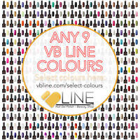 VB™ Line Any 9 Colours Nail Gel Polish - Top and Base coat available Starter set