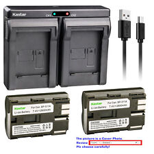 Bp-511 Battery or Dual Slim Charger for Canon Pv130 Zr10 Zr20 Zr25 Zr25Mc Zr30