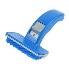 Bleu Plastique Chiots Chien Perte Cheveux Toilettage Brosse Peigne WT