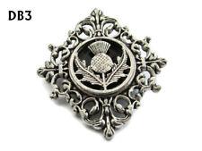steampunk brooch badge pin thistle Scotland Scottish celtic Gaelic alba #DB3