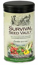 Survival Seed Vault Non-GMO Hardy Heirloom Seeds for Long-Term Emergency Stor...
