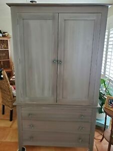 Custom Painted two piece Armoire