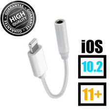 For iPhone 7 8 Lightning To 3.5mm Headphone Jack Plug Earphone Aux Adapter Cable