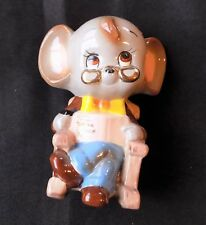 Vintage Ceramic Mouse in Rocking Chair With Glasses CHARMING