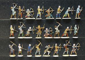 24 Zinnfiguren Persien Bogenschützen 30mm Luxusbemalung selten Gaugamela