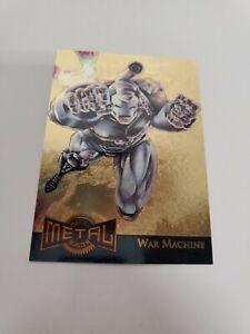 1995 Marvel Metal Card - gold blaster war machine 17