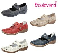 LADIES REAL LEATHER Summer Bar Shoes Black Beige Navy Red White Size 3 4 5 6 7 8