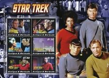 Antigua - 2008 Star Trek Sheet of 6 stamps - MNH