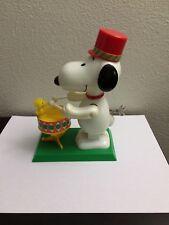 Vintage Peanuts Snoopy Drummer Wind Up Toy