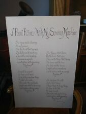 """Vintage Sewing Machine Poem Poster """"I Paint Pictures With My Sewing Machine"""""""