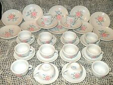 36 Pc.VINTAGE DOLL CHINA TEA SET / Serving DISHES Miniature Play Collectible