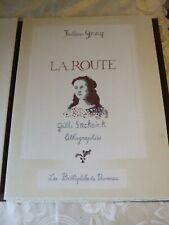 JULIEN GRACQ la route 1999 lithographies  GILLES SACKSICK tirage a 130 ex N° 64