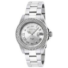 Invicta 20213 Lady's Silver Dial Steel Bracelet Crystal Dive Watch