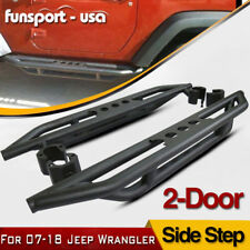 2x Side Steps Nerf Bars Running Boards for 2007-2018 Jeep Wrangler JK 2 Door