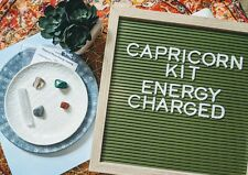 Capricorn Zodiac Birthday Sign Crystal Healing Gemstones Kit Gift Metaphysical