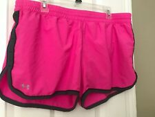 Womens Under Armour Pink Active Shorts XL