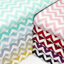 Cotton Print Fabric FQ 10mm Zig Zag Chevron Stripe Dress Quilting Patchwork VK49