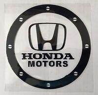 Amazing Car Fuel Gas Tank Cap Stickers Adhesive Graphic For Honda (Black)