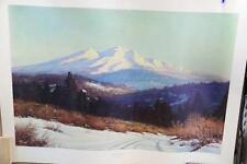 """By Robert Wood Large Vintage Lithograph  Print """"North Country"""" 40""""x29"""""""