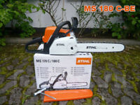STIHL MS180 С-BE With ErgoStart System And Fast Tension Of The Chain 35 cm