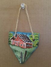 hand painted barm picture on sicle mower blade very beautiful