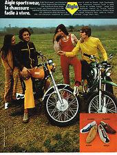 PUBLICITE ADVERTISING   1972    AIGLE   équipements  chaussures