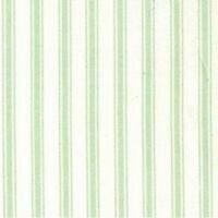 MINT & WHITE TICKING STYLE STRIPE FABRIC - 100% COTTON F.Q.'S