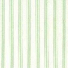 MINT & WHITE TICKING STYLE STRIPES - 100% COTTON FABRIC F.Q.'S