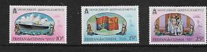 1977 - Tristan da Cunha - Silver Jubilee - Full Set of Three - MNH.