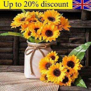 Artificial Sunflower Silk Fake Flowers Bouquet Wedding Floral Simple Home Decor