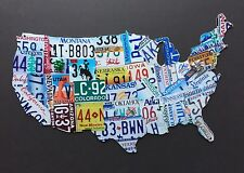 Usa License Plate Map Products For Sale Ebay - Us-plates-map