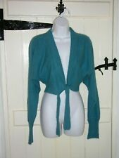 IN WEAR TEAL ANGORA ALPACA SHRUG CARDIGAN SIZE M SIZE 14