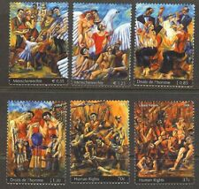U.N. 2004 MNH Human Rights Singles From All 3 Offices