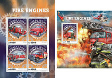 Fire Engines Firefighters Cars Transport Sierra Leone MNH stamp set