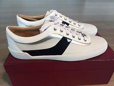 600$ Bally Eron White Leather Sneakers size US 12