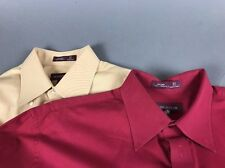 Lot Two Nordstrom Dress Shirt Button Up Solid Gold Red