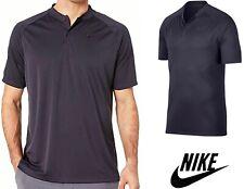 New NIKE Momentum Performance Golf Polo Men M Blade Collar Gray Shirt $55 NWT